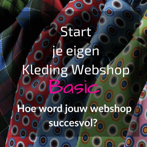 Kleding webshop starten Basic